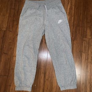 Nike crop sweatpants
